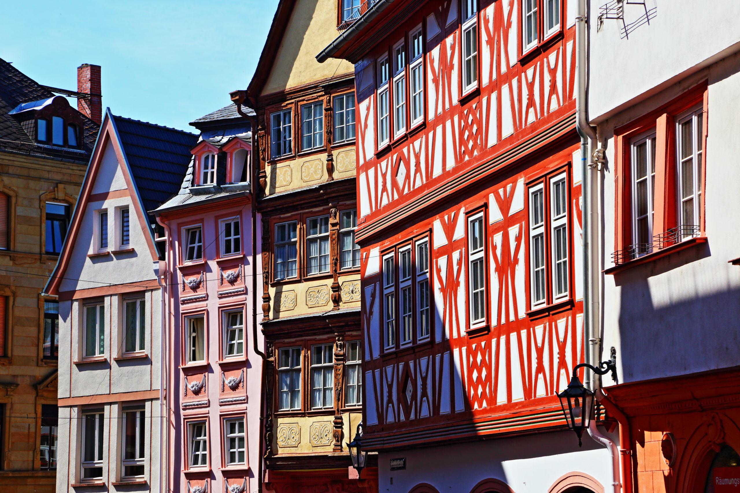 Die historische Fachwerkhäuser in der Augustinenstraße - Mainz