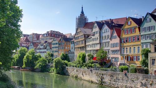 Bild von traditionellen Häuser in der Innenstadt von Mainz